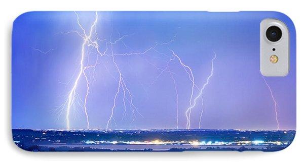 Natures Light Show Over The Boulder Reservoir  Phone Case by James BO  Insogna