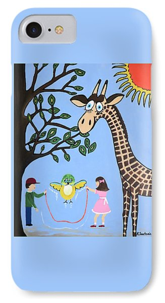 IPhone Case featuring the painting Nature's Playground by Kathleen Sartoris