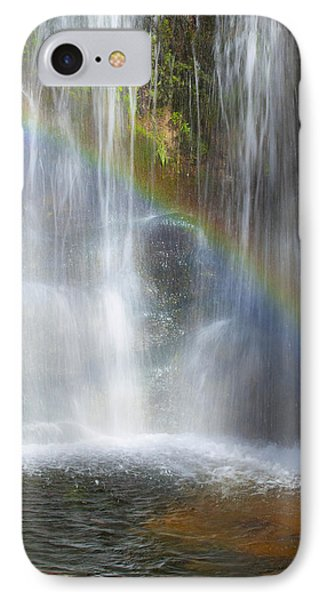 IPhone Case featuring the photograph Natures Rainbow Falls by Jerry Cowart