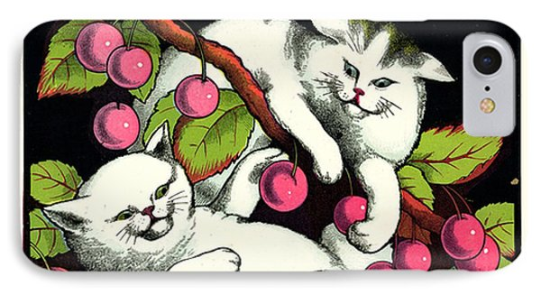 Naughty Cats Play With Cherries  Phone Case by Pierpont Bay Archives