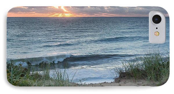 Nauset Light Beach Sunrise Square IPhone Case by Bill Wakeley