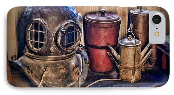 Nautical - Antique Dive Helmet IPhone Case by Paul Ward