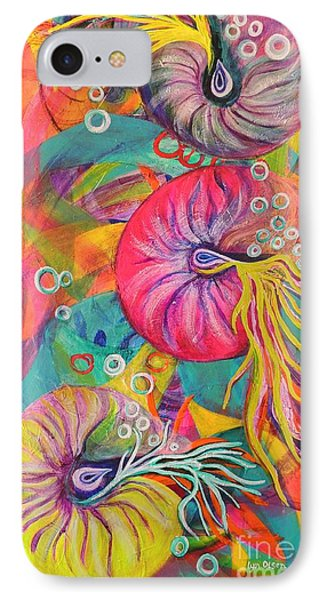 IPhone Case featuring the painting Nautilus by Lyn Olsen