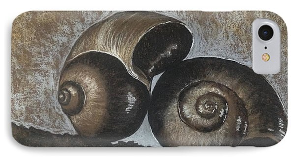 Nautilus Shells In Sepia IPhone Case