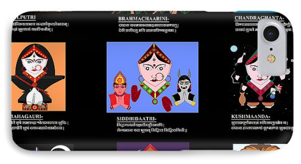 Navadurga With Dhyana Mantra IPhone Case