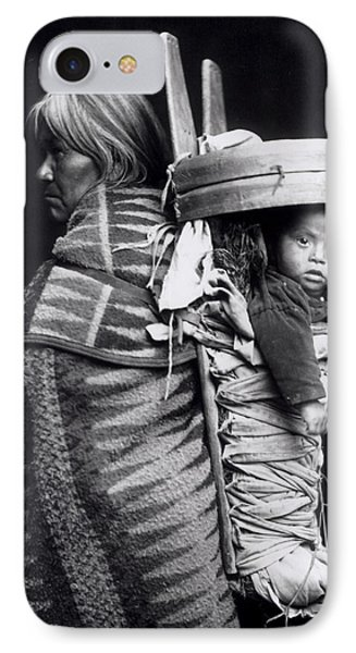 Navaho Woman Carrying A Papoose On Her Back IPhone Case