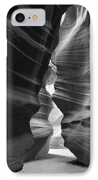 Antelope Canyon Black And White IPhone Case by Jonathan Davison