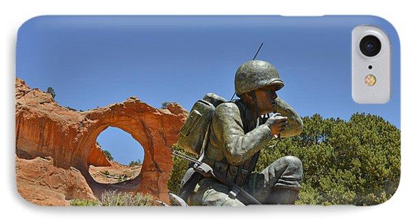 Navajo Code Talker - Window Rock Az Phone Case by Christine Till