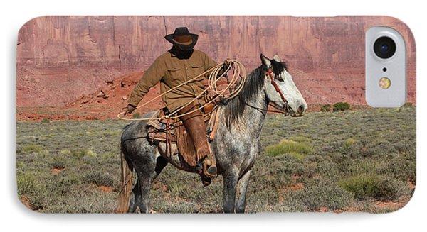 Navajo Cowboy IPhone Case by Diane Bohna