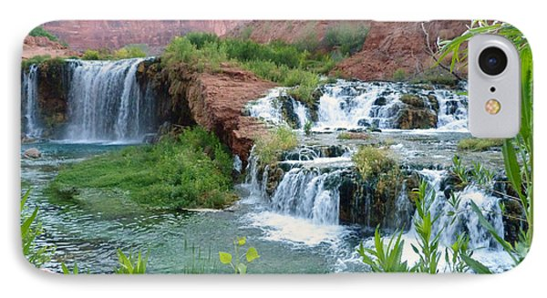 IPhone Case featuring the photograph Navajo Falls by Alan Socolik