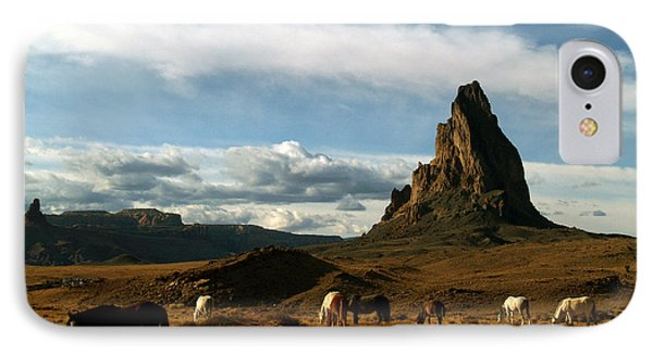 IPhone Case featuring the photograph Navajo Horses At El Capitan by Jeff Brunton
