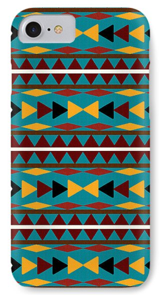Navajo Teal Pattern IPhone Case by Christina Rollo