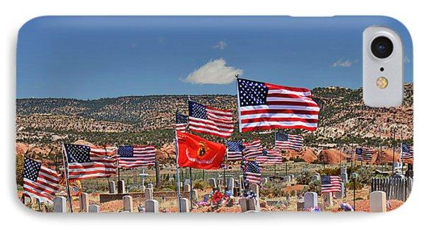 Navajo Veteran's Memorial Cemetery Tsehootsooi Phone Case by Christine Till