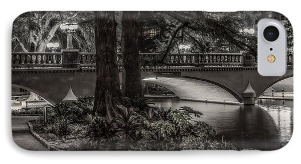 IPhone Case featuring the photograph Navarro Street Bridge At Night by Steven Sparks