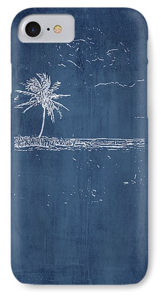 Navy Beach Palm I IPhone Case