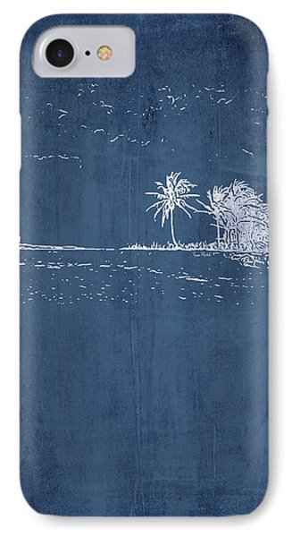 Navy Beach Palm II IPhone Case