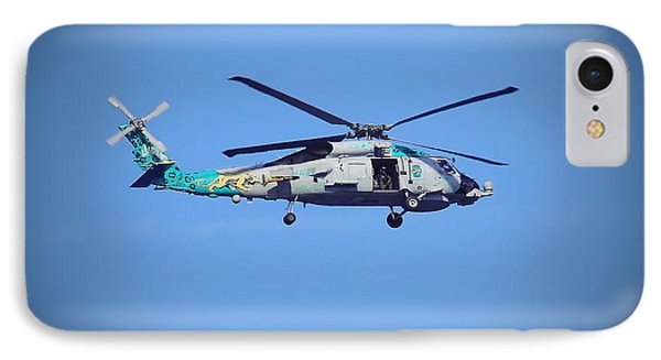 Navy Jaguar Helicopter IPhone Case by Cathy Lindsey