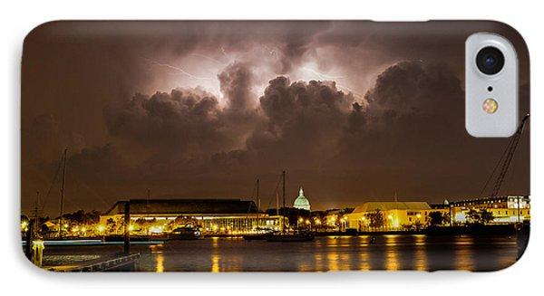 Navy Lightning IPhone Case by Jennifer Casey