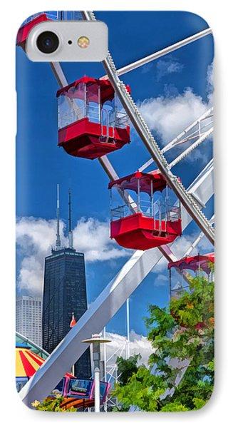 Navy Pier Ferris Wheel IPhone Case by Christopher Arndt