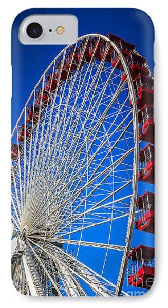 Navy Pier Ferris Wheel In Chicago IPhone Case by Paul Velgos