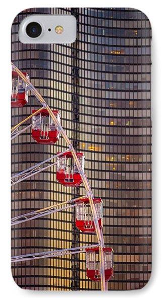 Navy Pier Wheel Chicago IPhone Case by Steve Gadomski