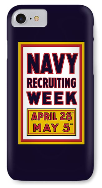 Navy Recruiting Week  IPhone Case