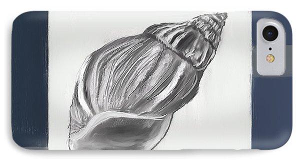 Navy Seashells I-navy And Gray Art IPhone Case