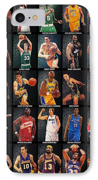 Nba Legends IPhone 7 Case by Taylan Apukovska
