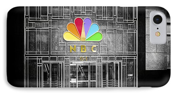 Nbc Facade Selective Coloring Phone Case by Thomas Woolworth