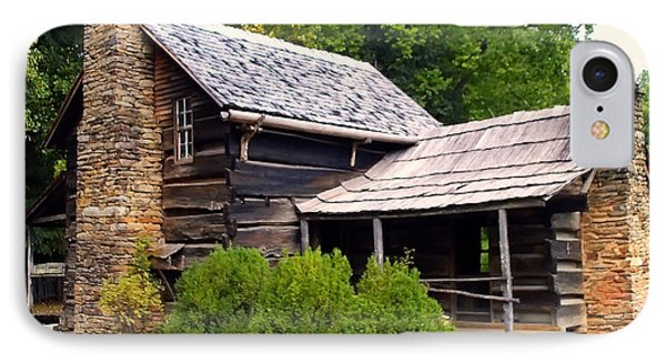 Nc Log Cabin Home IPhone Case by Chris Flees