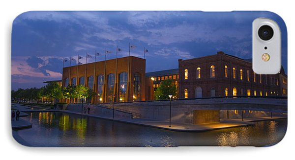 Ncaa Hall Of Champions Blue Hour Wide Phone Case by David Haskett