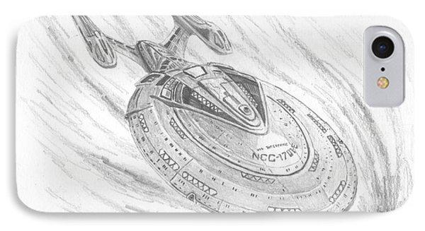Ncc-1701-e Enterprise IPhone Case by Michael Penny