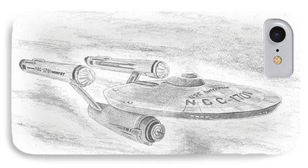 Ncc-1701 Enterprise IPhone Case by Michael Penny
