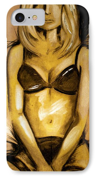 Nearly Naked Gold IPhone Case by Debi Starr