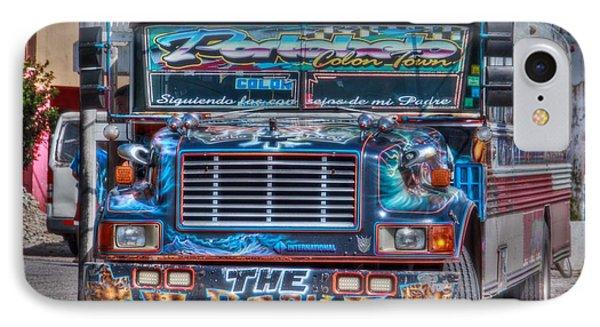 Neat Panamanian Graffiti Bus  IPhone Case by Eti Reid