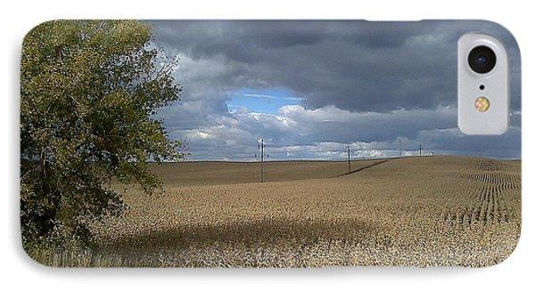 IPhone Case featuring the photograph Nebraska Cornfield by Lea Wiggins