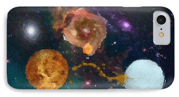 IPhone Case featuring the painting Nebula 2 by Wayne Pascall