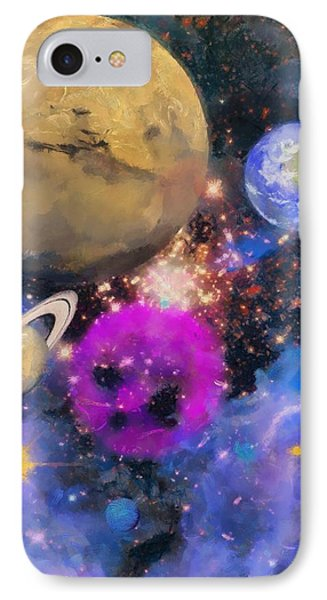IPhone Case featuring the painting Nebula by Wayne Pascall