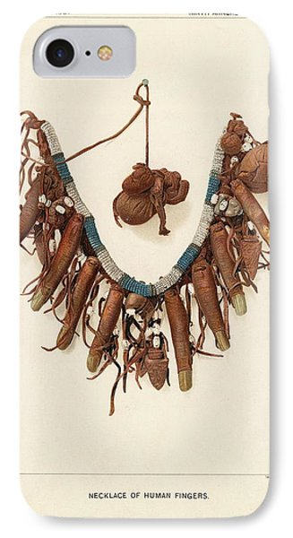 Necklace Of Human Fingers IPhone Case by Art And Picture Collection/new York Public Library