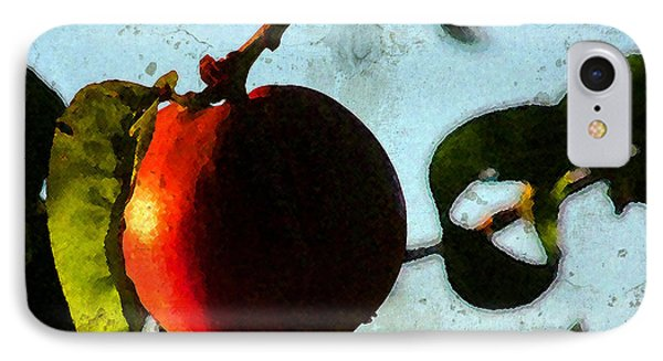 IPhone Case featuring the photograph Nectarine by Timothy Bulone