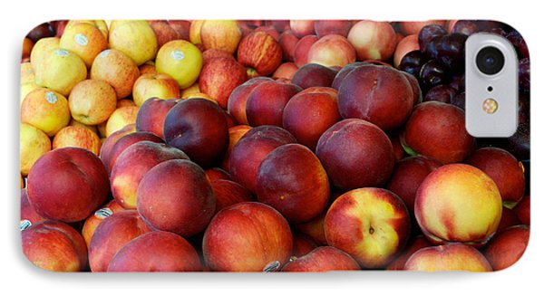 IPhone Case featuring the photograph Nectarines At Rest by Vinnie Oakes