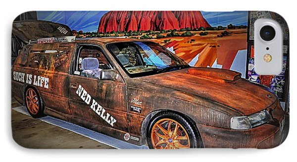 Ned Kelly's Car At Ayers Rock Phone Case by Kaye Menner