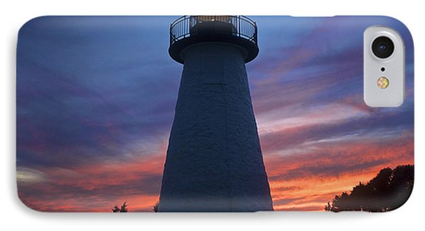 IPhone Case featuring the photograph Ned's Point Lighthouse by Amazing Jules