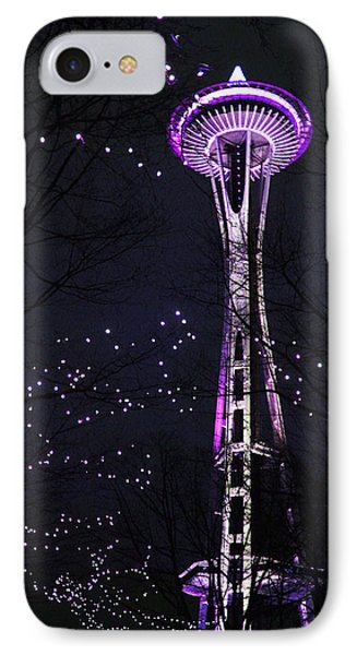 IPhone Case featuring the photograph Needle In Purple by Sonya Lang