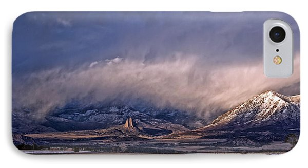 Needle Rock Winters Glow IPhone Case by Eric Rundle