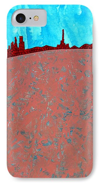 Needles And Dunes Original Painting Phone Case by Sol Luckman
