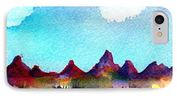 IPhone Case featuring the painting Needles Mountains by Anne Duke