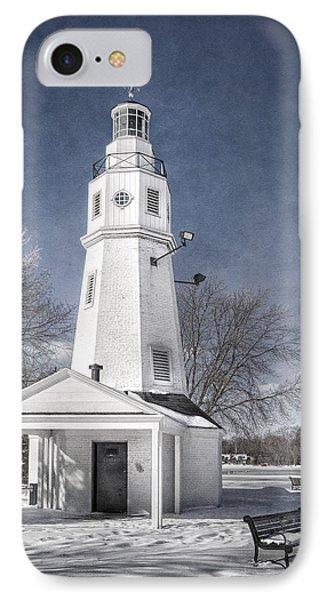 Neenah Lighthouse IPhone Case by Joan Carroll