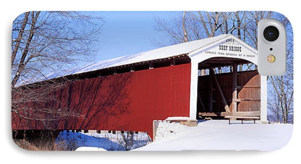 Neet Covered Bridge Parke Co In Usa IPhone Case by Panoramic Images