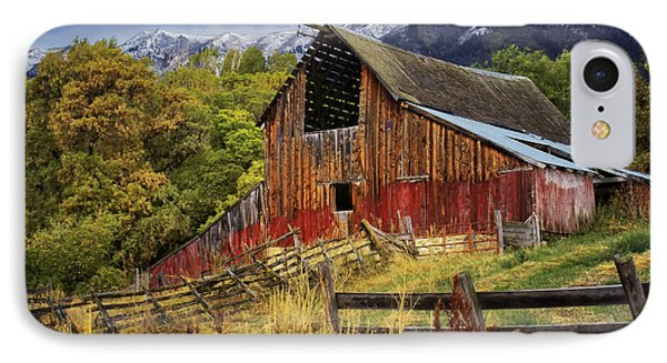 IPhone Case featuring the photograph Neff- Hardman Barn by Priscilla Burgers